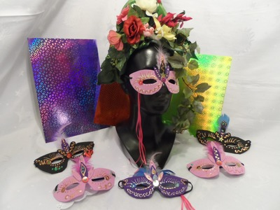 DIY:keka  MASKE ,Masken Ball, basteln für Fasching,Party,Tisch Deko,Einladung,.