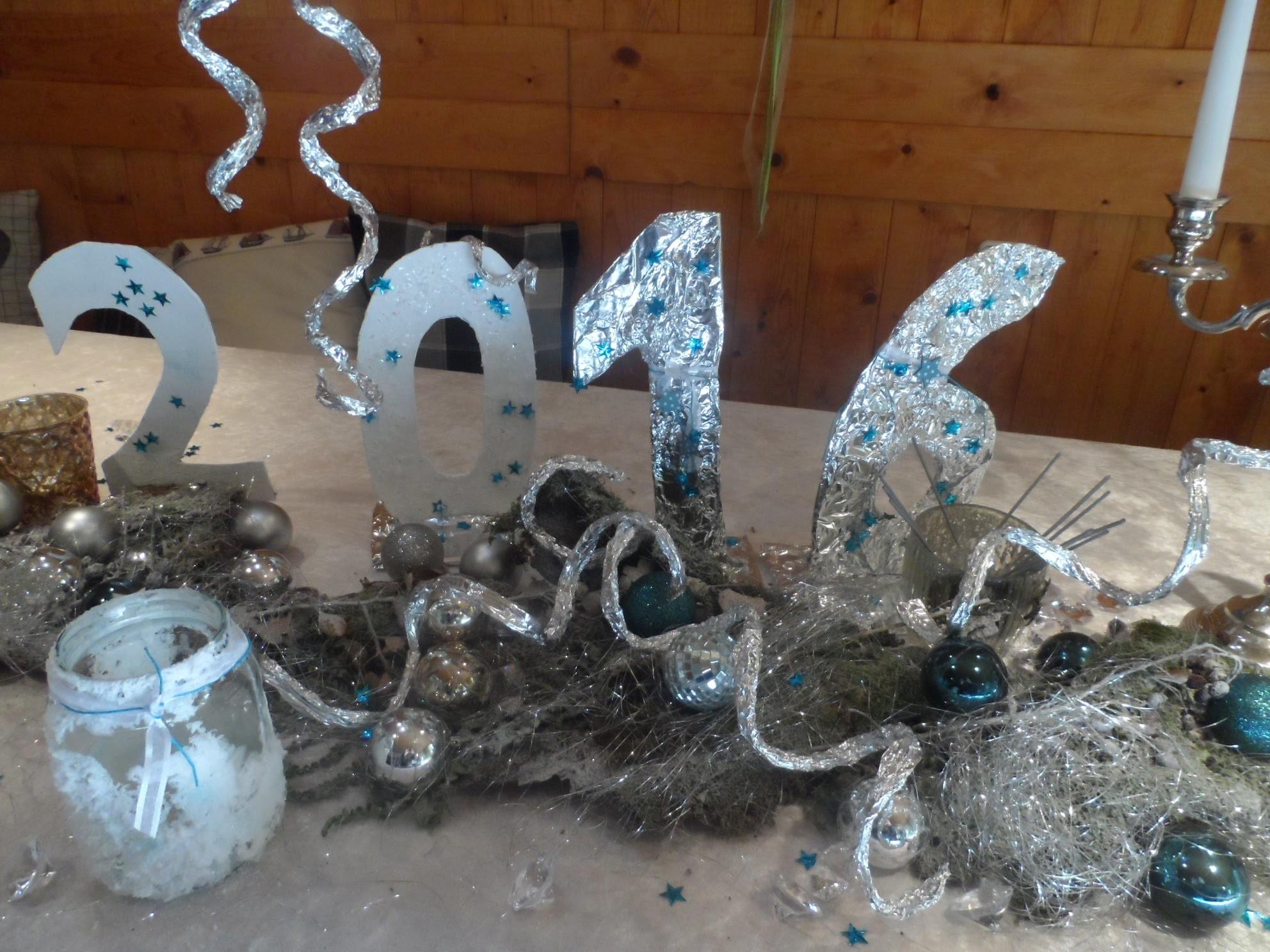 DIY:keka SILVESTER Party,Silber HOCHZEIT;-8 BASTEL;DEKO Ideen,Tisch Deko ,mit Feuerwerk,-Anleitung