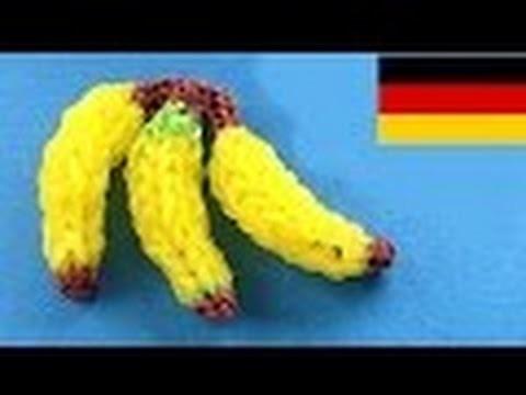 Loom Bandz Anleitung Deutsch Banane (Rainbow Loom Deutsch Loom Bands 3D banane)