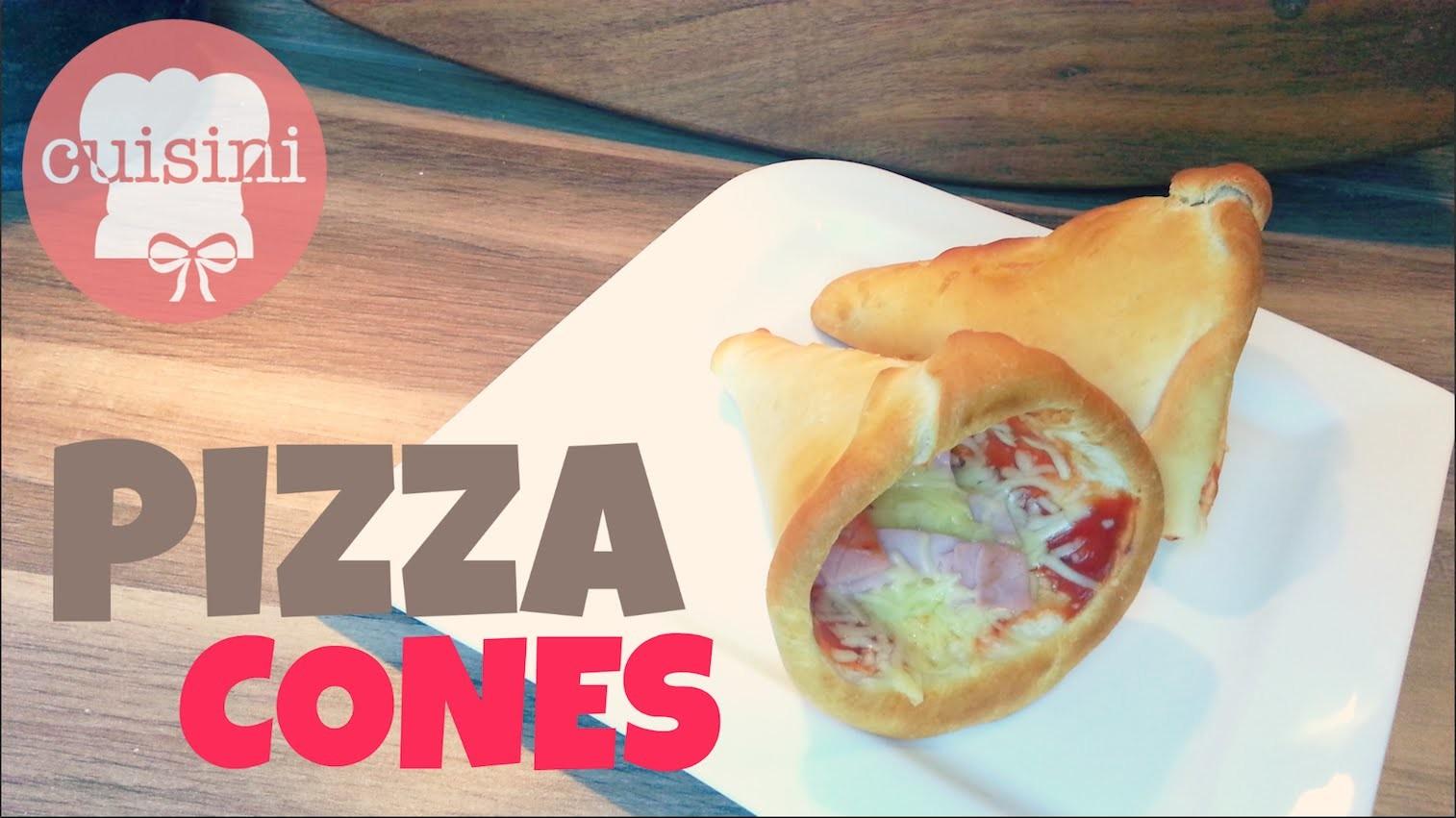 PIZZA CONES | DIY Pizzahüte selber machen (deutsch) - CUISINI