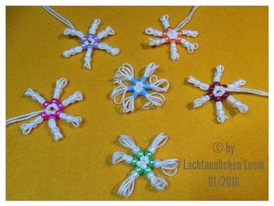 Rainbow Loom Schneeflocke mit Perlen