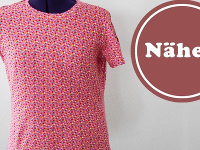 T Shirt selber einfach nähen | mit Tipps elastischer Stoff nähen