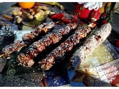 "Christmas Schoko Sesam Obst Spiesse DIY. ""Weihnachtsmarkt Special"" Youtube Coop InCook"