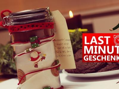 DIY. Schokokeksmischung im Glas - Last-Minute Weihnachtsgeschenk