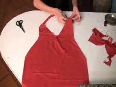 Ein Kleid aus einem T Shirt