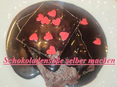 Schokoladensoße in 5 Minuten selber machen | DIY | Dessertsauce Rezept | Vegan