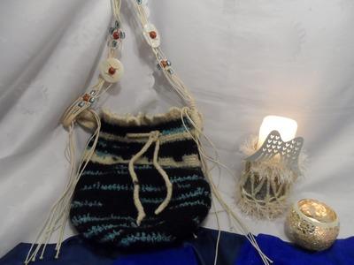 DIY:keka Tasche häkeln+ filzen.verfilzen + Tasche in normaler WOLLE HÄKELN Part 2