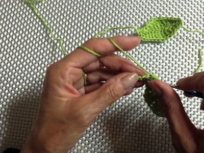 Blütenblatt häkeln - Blatt häkeln - Häkelblatt