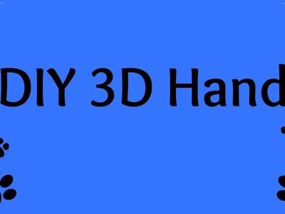 DIY 3D Hand zeichnen vom Kind