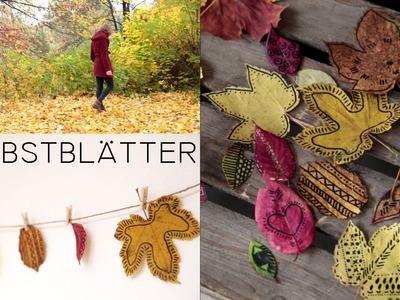 DIY Herbstblätter Deko & entspannter Herbsttag - kekulo
