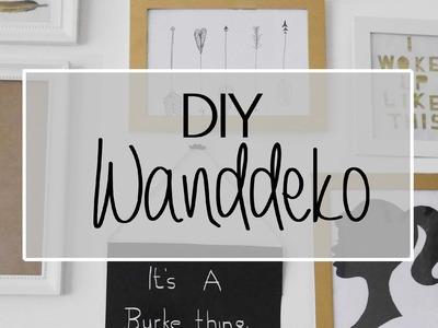 DIY I Wanddekoration in Gold