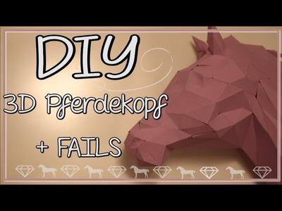 DIY Pferdekopf 3D Origami ♥ + Fails :P