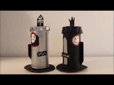 DIY: Ritter wechsle dein Gesicht aus Klopapierrollen l Basteln mit Kindern