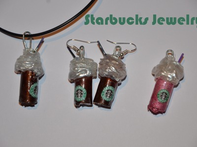 DIY Starbucks Anhänger.Ohrringe | Without Polymer Clay