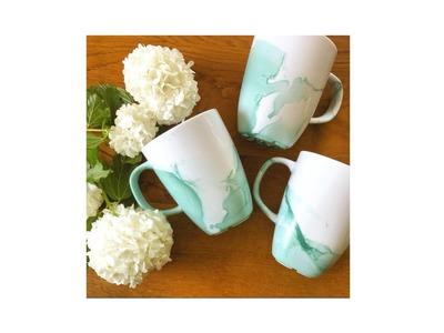 DIY: Watercolour Mug - Nagellack Tasse - schnell und einfach