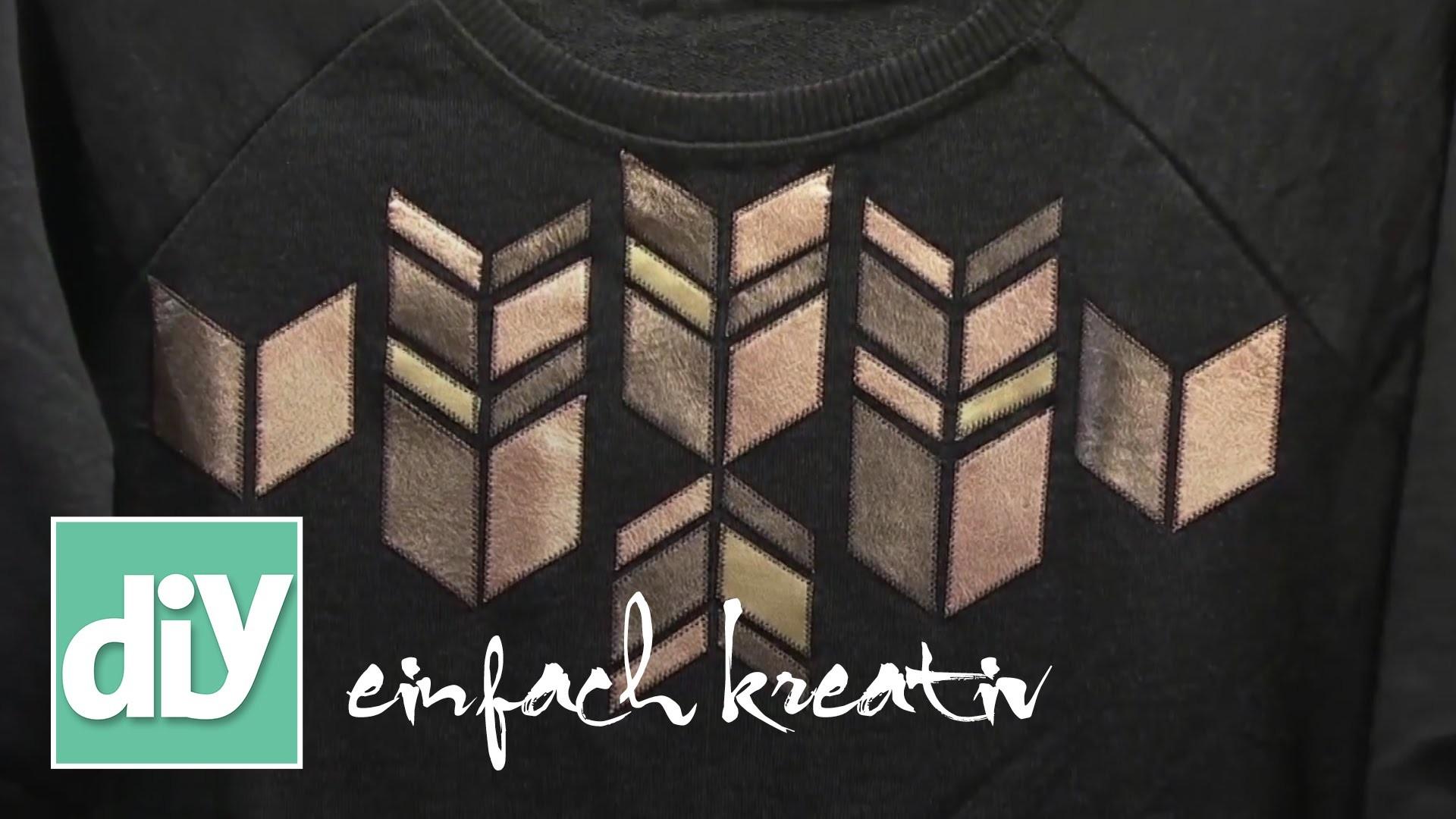 Kleidung mit Lederapplikation verzieren | DIY einfach kreativ