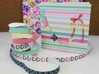 Mini Washitape Haul & Geburtstagskarte basteln | Neues Textiltape von von Tchibo