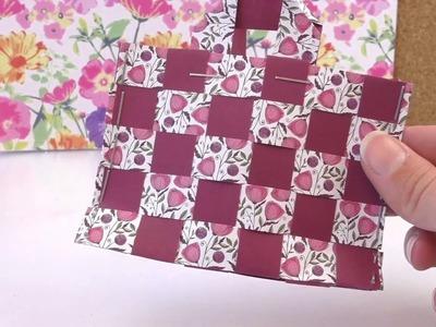 Süße Tasche aus Papier | Osterkorb für Geschenke selber machen | DIY Körbchen flechten