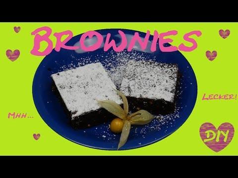 Chocolate Brownies DIY. Schoko Brownies. Küchlein ganz einfach + Rezept! Backen DIY | deutsch