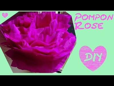 DIY Deko fürs Zimmer - Pompon Rose. Poms als Tischdeko, Hochzeitsdeko, Partydeko
