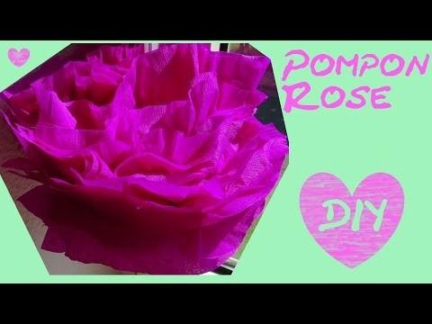 Diy deko f rs zimmer pompon rose poms als tischdeko hochzeitsdeko partydeko - Diys furs zimmer ...