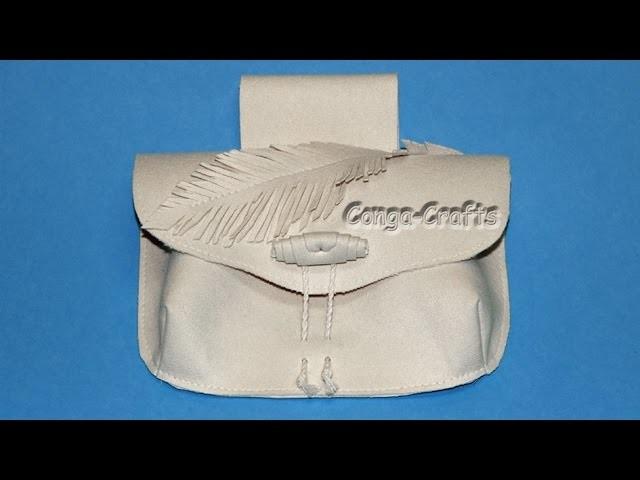 Darty Gürteltasche mit Abnäher, Innentasche DIY. belt bag with darts and inside pocket