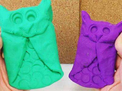 DIY Eule aus Knete selber machen