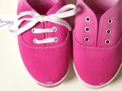 Schuhe Ombre Effekt - DIY Eule