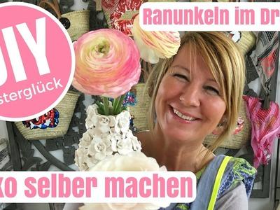 DIY-Deko Ideen selber machen - Ranunkeln im Wickeldrahtei - von Imke Riedebusch