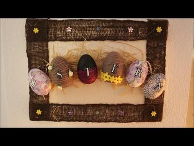 DIY: * Oster Special * Osterbild auf Leinwand l Basteln zu Ostern # 10