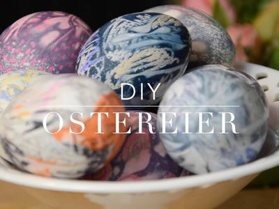 DIY Ostereier - Ostereier mit Krawatten färben - Glücksküche