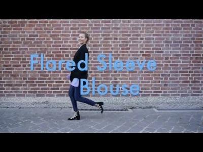 MADEMOISELF DIY Tutorial: Bluse mit Trompetenärmeln