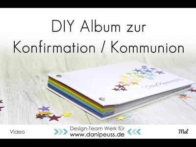DIY Album für Kommunion. Konfirmation