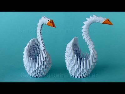 Origami Schwan falten - Basteln mit Papier - DIY Geschenkideen - Bastelideen