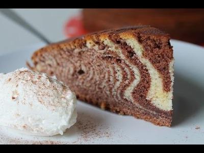 Zebrakuchen backen (Rezept) || How to bake a Zebra Cake (Recipe) || [ENG SUBS]