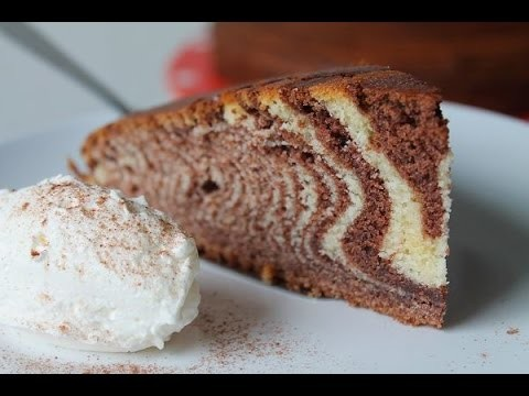 Zebrakuchen backen (Rezept) || How to bake a Zebra Cake (Recipe) || [ENG SUBS]