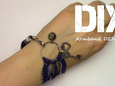 Armband Denim selber machen [DIY]