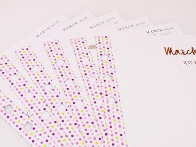 DIY Planer Deko für den März | Filofax Idee mit Washitape | Seitenschutz & Deko | Monatsdeko
