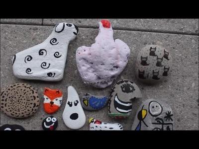 DIY: Steine sammeln und bunt anmalen - Mix aus Ideen