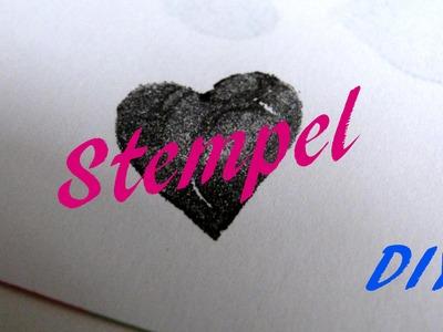 DIY- Stempel  |  aus Moosgummi  |  Do It Yourself  |  selber machen