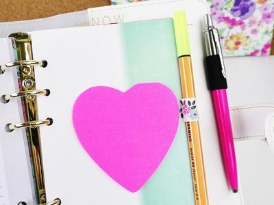DIY Stifthalter mit Washitape | Post Its für Filofax & Kalender selber machen | Back to School