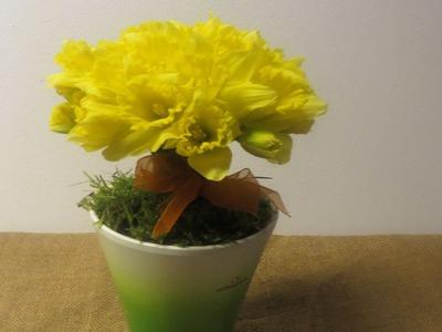 Osterdeko Diy :  Ausgefallene Blumendeko mit Osterglocken. Deko Ideen mit Flora-Shop