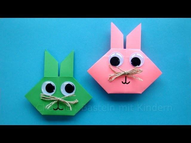 osterhasen falten origami hasen basteln mit kindern. Black Bedroom Furniture Sets. Home Design Ideas