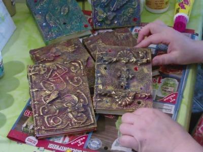 DIY - Notizbuch mit Serviettentechnik auf alt gestalten