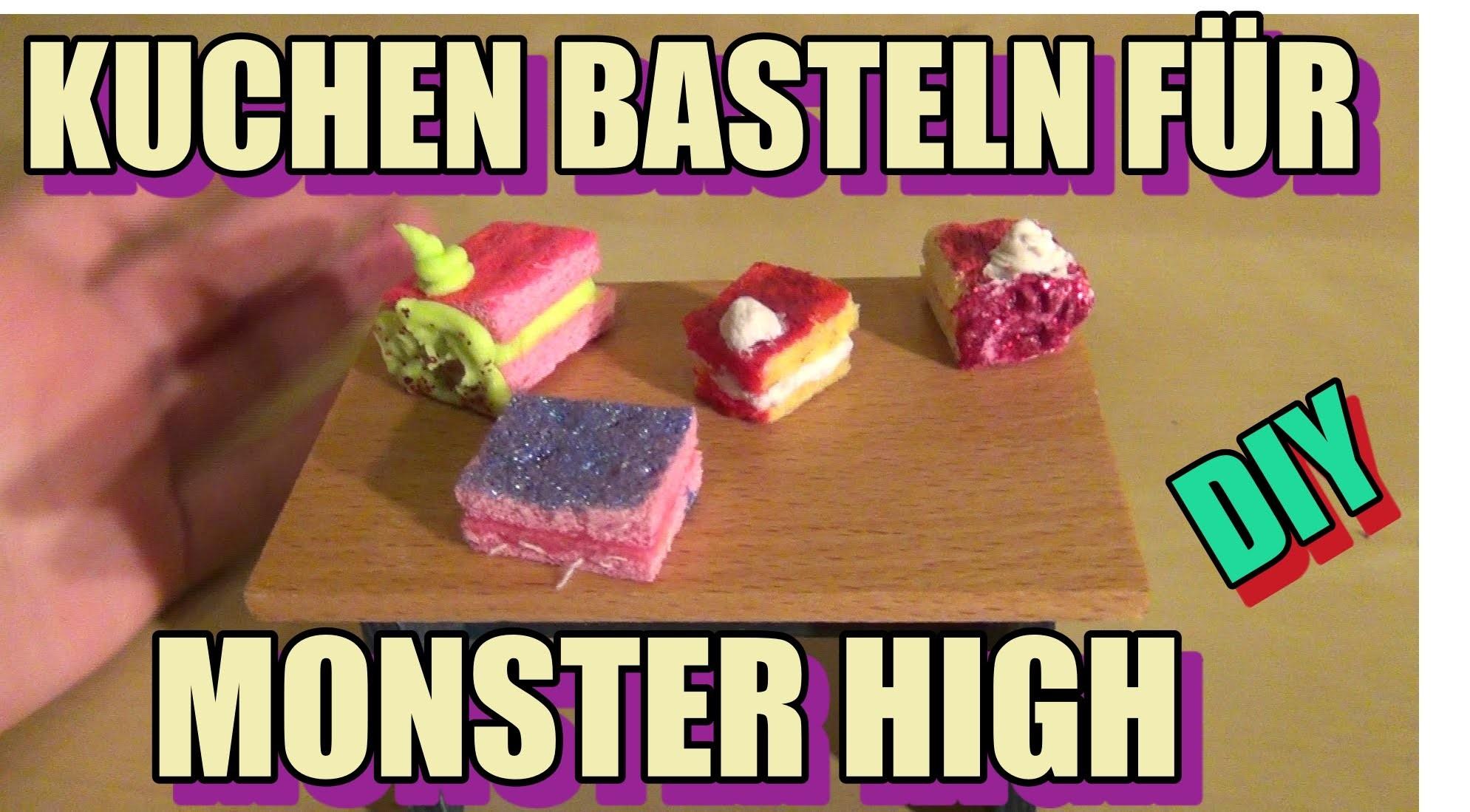 Kuchen, Torten selber basteln Monster High DIY