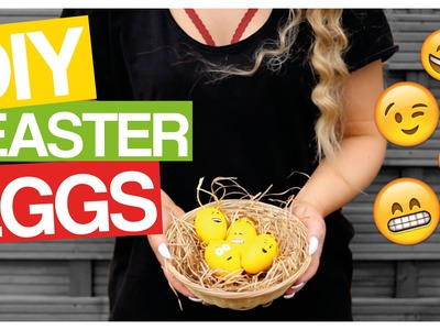 3 DIY EASTER EGG IDEAS ➡︎ EMOJI EGGS! | EASTERCOCOLAND