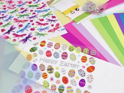 Bastelmaterial HAUL für Ostern | Lidl Einkauf | Pappe, Sticker & Deko | Ostereier & Hasen | Shopping
