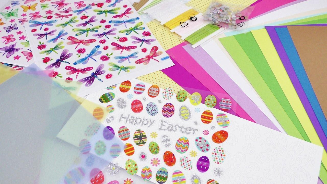 Bastelmaterial HAUL für Ostern   Lidl Einkauf   Pappe, Sticker & Deko   Ostereier & Hasen   Shopping