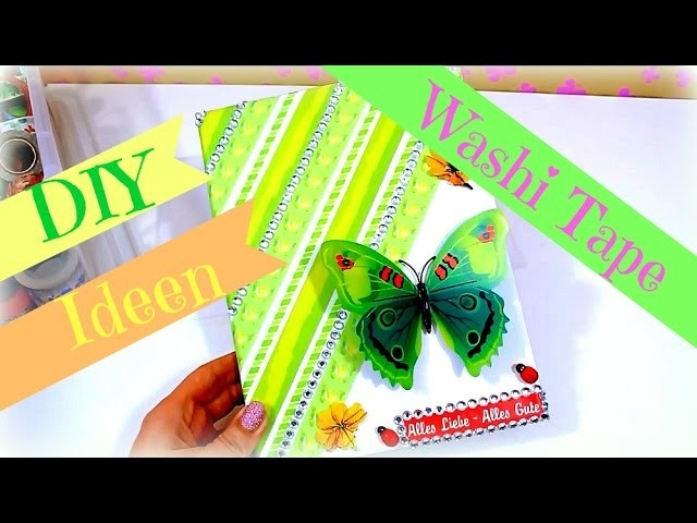 Geschenkideen Geburtstag selber machen   Washi Tape DIY Inspiration   Bastelideen Tutorial