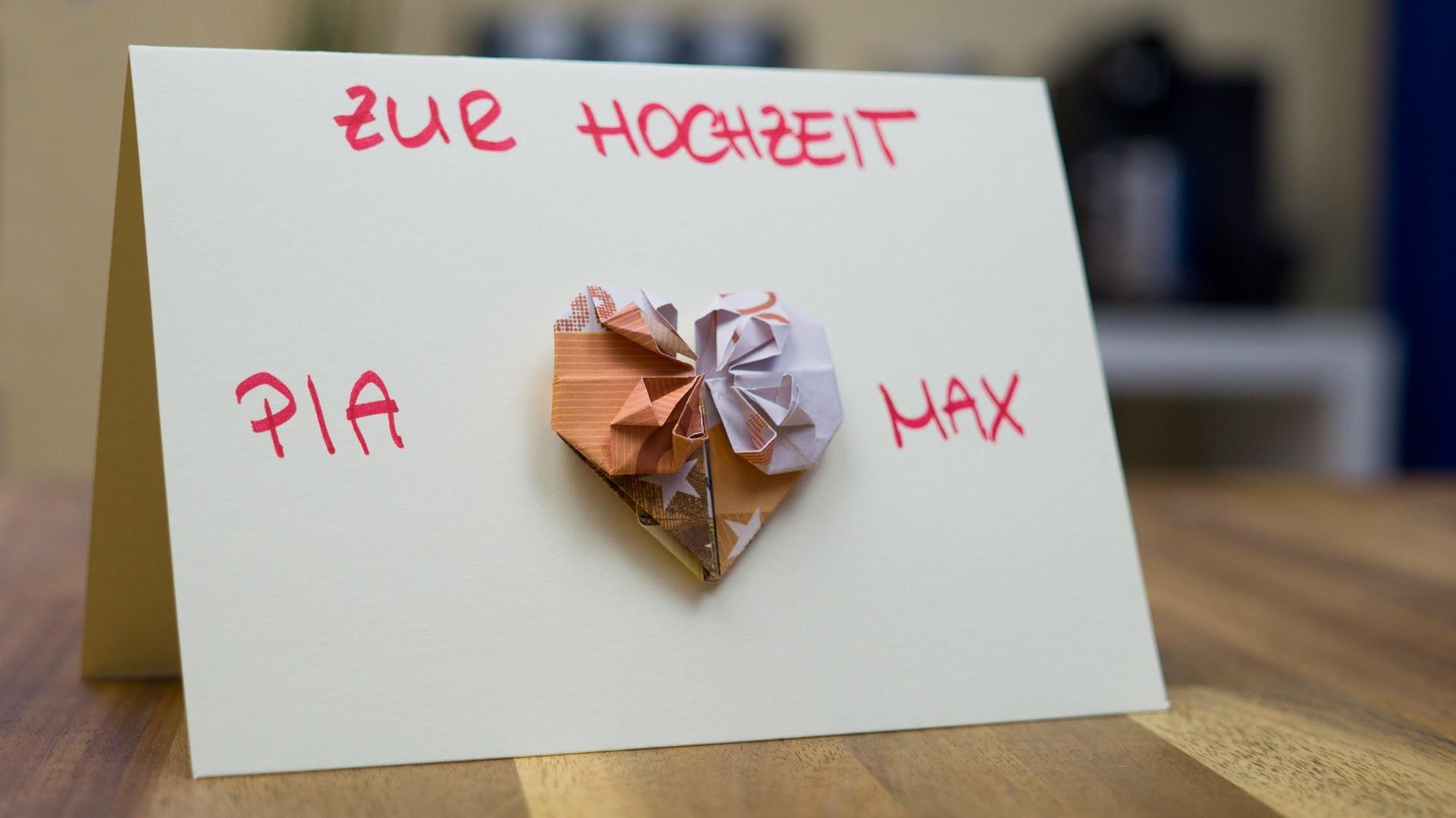 Hochzeit Geldgeschenk Idee Glückwunschkarte Basteln